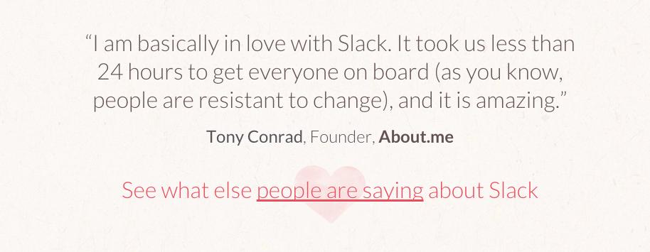 Slack testimonials