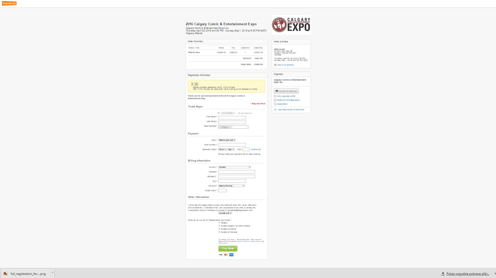 Eventbrite - SaaS Payment Form