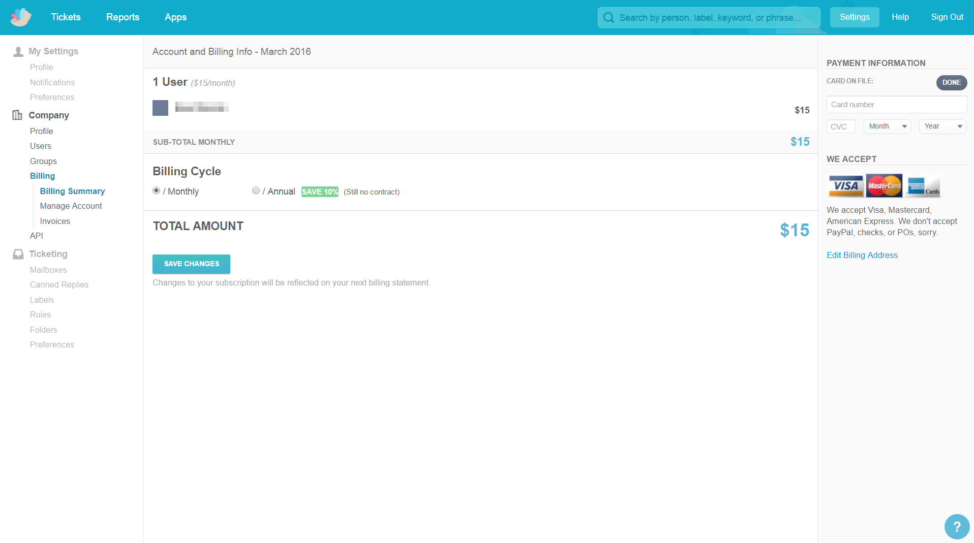 Groove - SaaS Payment Form
